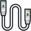 computing cable, ethernet cable, internet cable, lan cable, networking cable icon