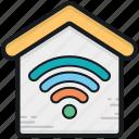house, wifi fidelity, wifi signals, wifi zone, wireless internet icon