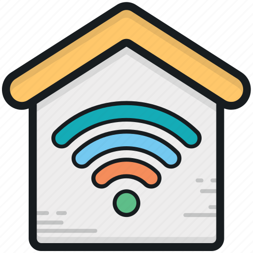 house, wifi fidelity, wifi signals, wifi zone, wireless internet icon