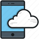 cloud computing, cloud drive, cloud network, cloud storage, mobile cloud icon