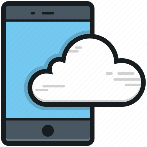 cloud computing, cloud drive, cloud network, cloud storage, mobile cloud icon