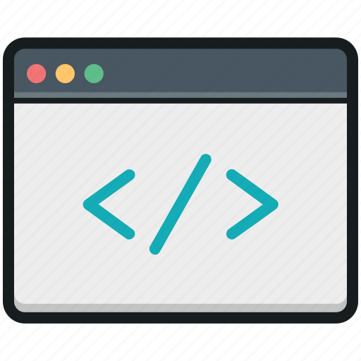html, html coding, web development, web programming div coding icon
