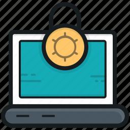 encryption, laptop, laptop access, laptop security, padlock icon
