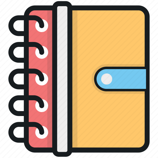 notebook, notepad, notes, scratch pad, writing pad icon