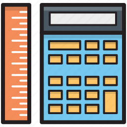 calculating machine, calculator, mathematics, ruler, scale icon