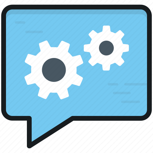 chat configuration, chat setting, chat support, cog, live chat icon