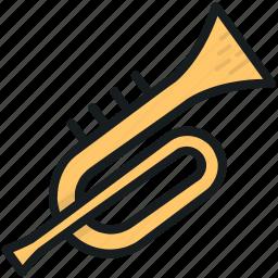 euphonium, french horn, trombone, trumpet, tuba icon