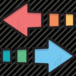 arrows, direction arrows, left arrow, pointing arrows, right arrow icon
