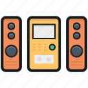loudspeakers, music amplifier, music system, sound system, speakers icon