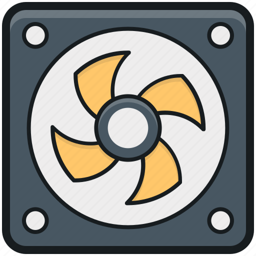 case fan, computer cooler, computer fan, cpu fan, pc cooling icon