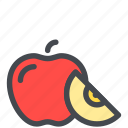 apple, food, fruit, healthy, slice, sweet icon