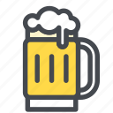 alcohol, beer, drink, glass, jug icon