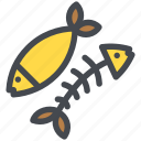 bones, fish, food, healthy, seafood icon