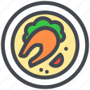 dish, fish, food, healthy, seafood icon