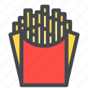 potatoes, food, fries, french fries icon