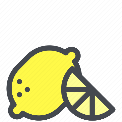 citrus, fruit, lemon, slice icon