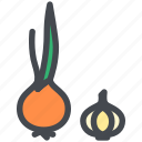 food, garlic, healthy, onion, vegetable icon