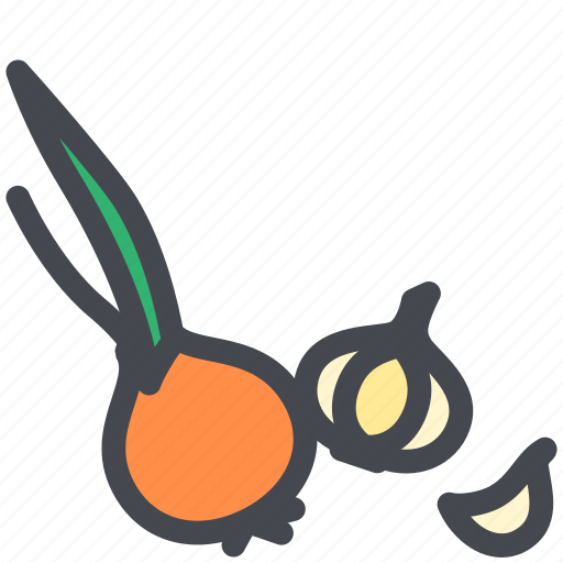 food, garlic, healthy, vegetable icon