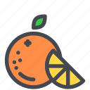 citrus, fruit, orange, slice, sweet icon