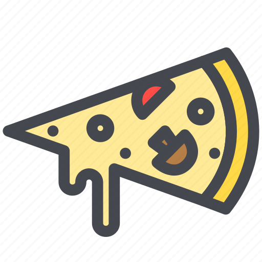 food, meal, pizza, slice icon