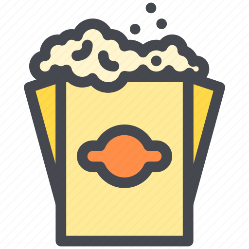 bag, food, popcorn, snack icon