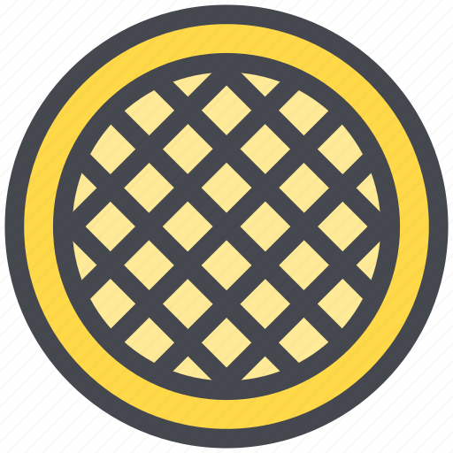 dessert, tart, waffle icon