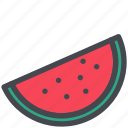 food, fruit, slice, sweet, watermelon icon