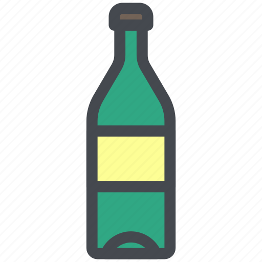beverage, bottle, drink, glass, water, wine icon