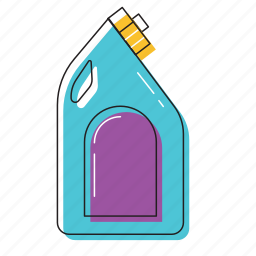 bottle, bottle cleaner, cleaning bottle, petrol icon