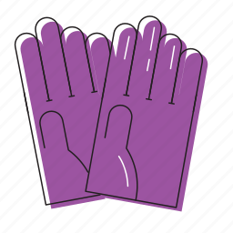 cleaning gloves, gloves, washer gloves icon