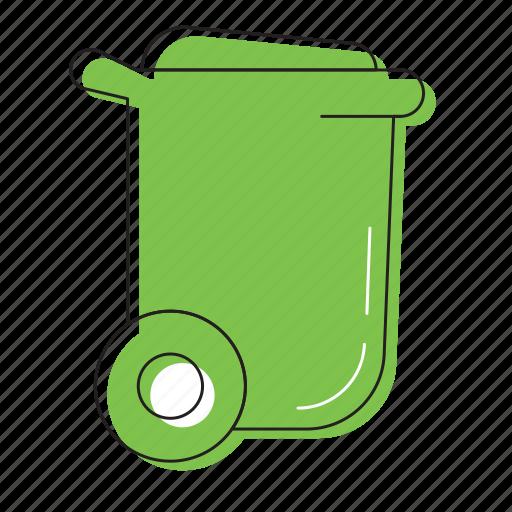 bin, dust bin icon