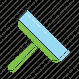 duster, floor, window wash, windows cleaner icon