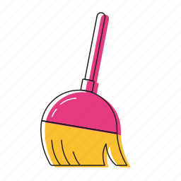 brush, mop icon