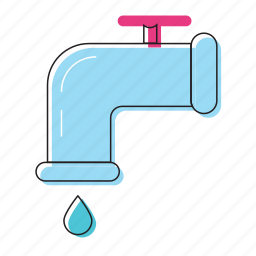 drop, plumber, tap, water, water tap icon