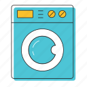 blue, dishwasher, washer, washing, washing machine icon