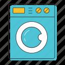 blue, dishwasher, washer, washing, washing machine