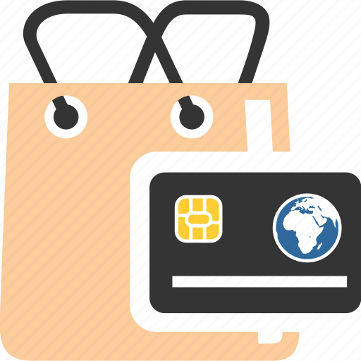 bag, business, card, commerce, credit, market, shopping icon