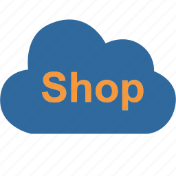 bag, cloud, computing, ecommerce, market, online, shopping icon