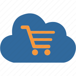 bag, basket, caddy, cloud, computing, market, shopping icon