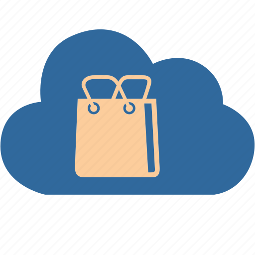 bag, basket, cloud, computing, market, sale, shopping icon