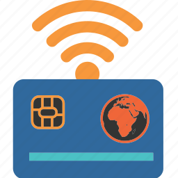 business, card, credit, internet, online, shopping, wifi icon