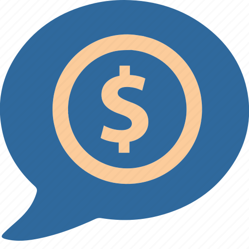business, commerce, dialog, dollar, mall, shopping, speak icon