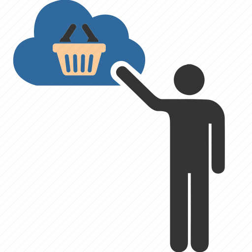 cloud, computing, ecommerce, mall, people, shopper, shopping icon
