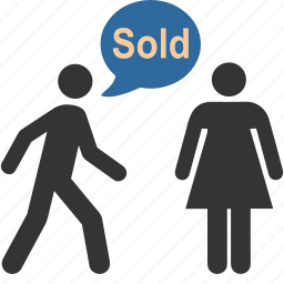 business, dialog, mall, people, shopper, shopping, sold icon