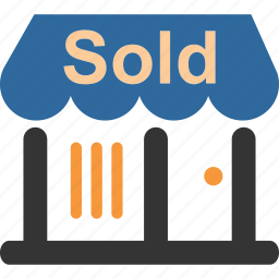 business, commerce, mall, market, shopping, shops, sold icon