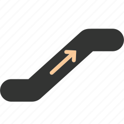 arrow, business, mall, shopping, stair, top, traffic icon