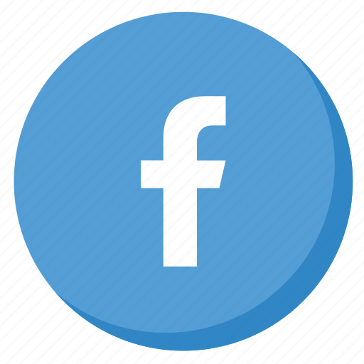 circle, facebook, lightblue, like, media, network, social icon