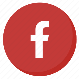 circle, facebook, like, media, network, red, social icon