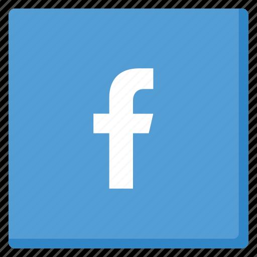facebook, lightblue, like, media, network, rounded, social icon