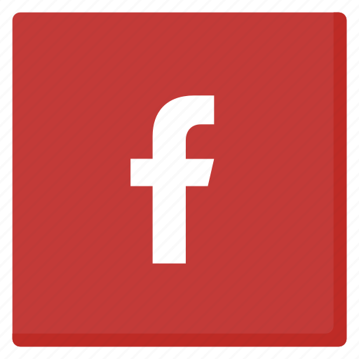 facebook, like, media, network, red, rounded, social icon